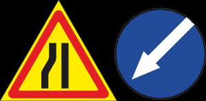 временный дорожный знак