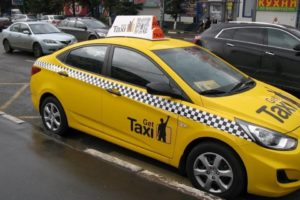 Частичная оклейка кузова такси
